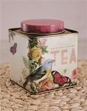 Mixed Roses in Printed Tea Tins