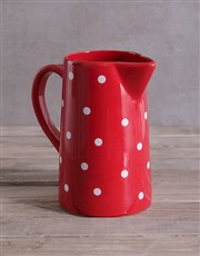 Flower Mix In A Red Polka Jug