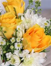 Yellow and White Elegant Pot Arrangement