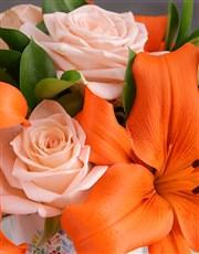 Personalised Personal Message Floral Mug
