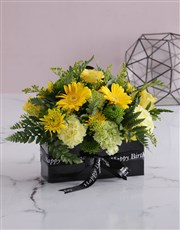 Bright Blooms in Birthday Envelope Box