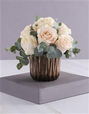Cream Roses in Bronze