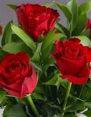 Personalised Red Rose Arrangement