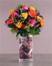 Personalised Birthday Rose Duo Arrangement