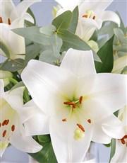 Personalised Saint Joseph Lilies in Vase