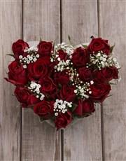 Ceramic Rose Heart