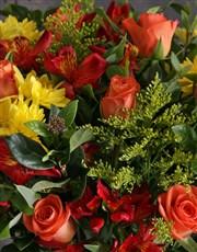 Harvest Mixed Flower Vase Arrangement