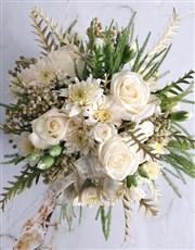 White Floral Christmas Arrangement