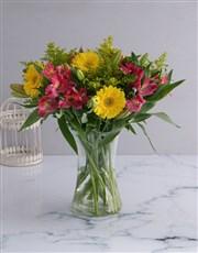 Soft Inca Lily and Gerbera Vase