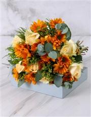 Peaches and Cream Rose Bouquet
