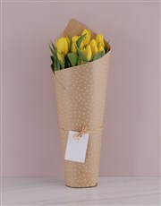 Yellow Sensation Tulip Bouquet
