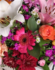 Mixed Flowers In A Black Box