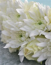 White Sympathy Wreath And Glass Tile