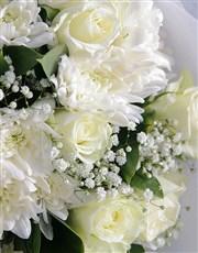White Bouquet Of Sympathy