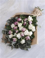 Lilac and Cream Rose Bouquet
