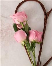 Pink Heart Bouquet