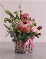 Pink Blooms Variety Basket