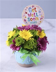 Personalised Get Well Soon Spray Pot