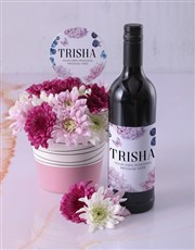 Personalised Thank You Spray Pot