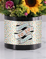 Personalised Confetti Cheers Birthday Box