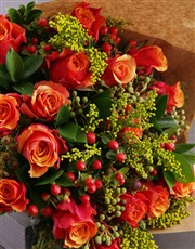 Classic Cherry Brandy Rose Bouquet
