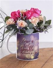Leave A Sparkle Flower Mug