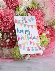 Pretty Pink Carnation Birthday Bouquet