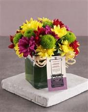 Radiant Sprays In Square Vase