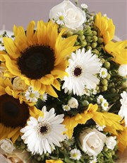 Sunflower Hessian Wrapped Bouquet