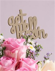 Get Well Mixed Roses in a Vase