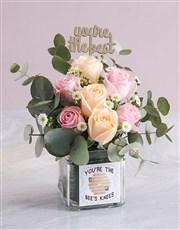 Sweet Rose Sensations in a Vase