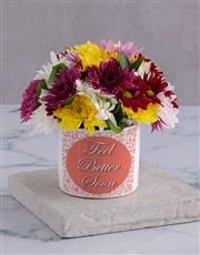 Feel Better Spray in White Vase