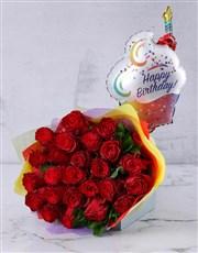 Cerise Happy Birthday Flower Bouquet