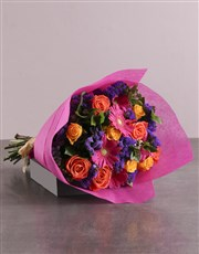 Mosaic Radiance In Cerise Pink Wrapping
