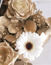 Golden Radiance Of Mixed Flowers