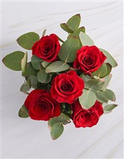 Red Rose Heaven In Wooden Box