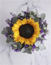 Purple Sunflower Tin