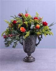 Cherry Brandy Roses In Shiraz Pot
