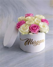 Personalised Gorgeous Mixed Flowers Hat Box