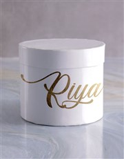 Personalised On My Mind Mixed Flowers Hat Box