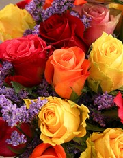 Birthday Bunch Of Colourful Roses