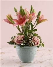 Topiary Tree Pink Lilies