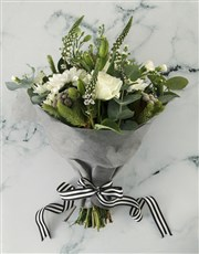 Mixed White Flowers Thank You Hamper