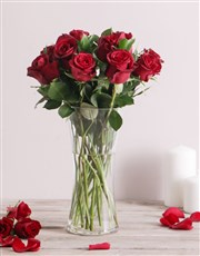 Romantic Red Roses and Chocolates