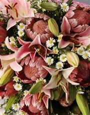 Protea and Stargazer Bouquet