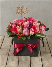 Celebratory Shades of Mixed Pastel Roses in Box