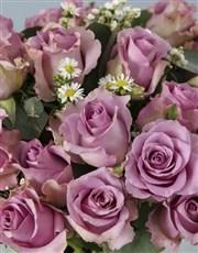 Whimsical Lilac Roses Arrangement