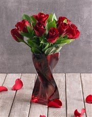 Red Roses with a Twist