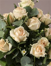 Peachy Rose and White Daisy Bouquet