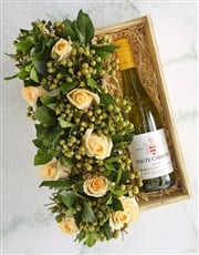 Cream Roses And Chardonnay Surprise